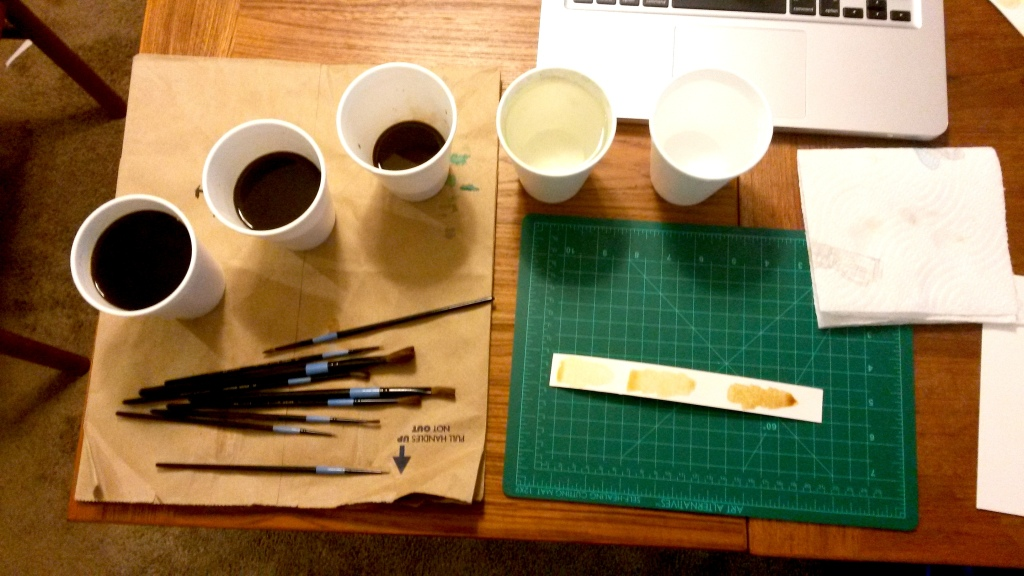 Coffee Painting Setup