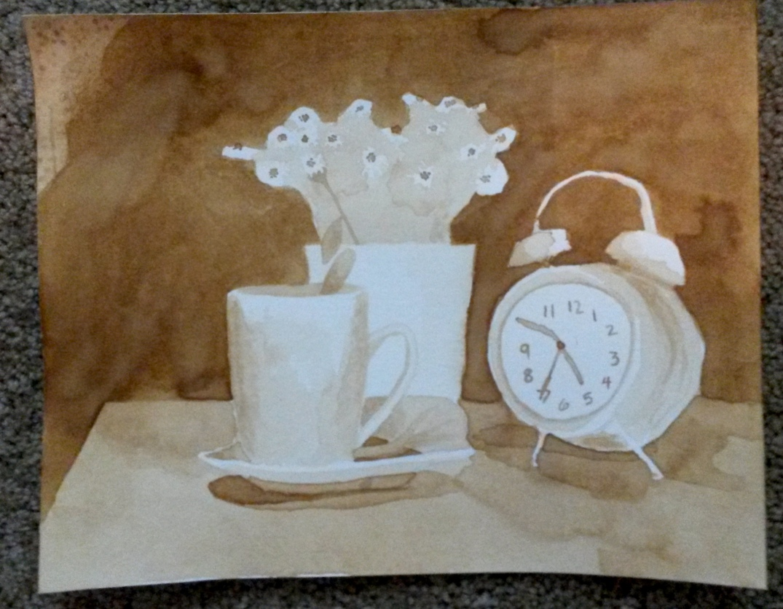 Clock and Daisies 3
