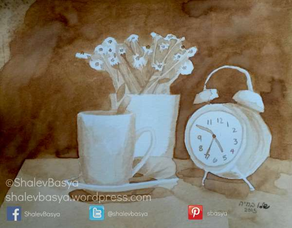 Clock and Daisies (c)