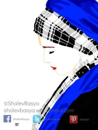 The Blue Scarf Lady (c)